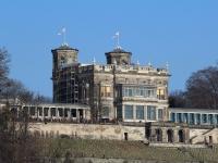 Dresden Lingner Schloss im Februar 2013