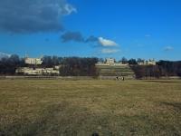 Dresden Schloss Albrechtsberg, rechts daneben Lingner Schloss und Schloss Eckberg im Februar 2013