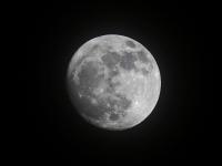 der Mond über Dresden, März 2013
