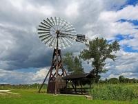 Insel Usedom, Windschöpfwerk bei Kachlin, August 2013